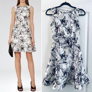 REISS Onyx peplum hem dress 2